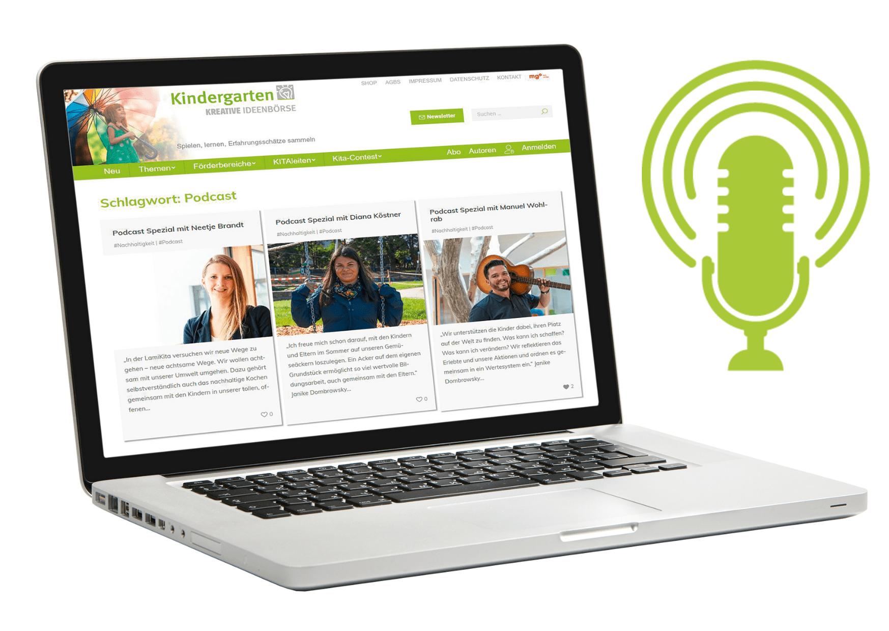 Podcasts für pädagogische Fachkräfte: Eine nachhaltige Kita gibt Einblicke